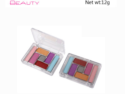 7 colors eye shadow palette Brand Your Own Cosmetics ES106