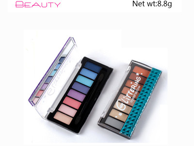 8 colors glittering eyeshadow palette private label ES109