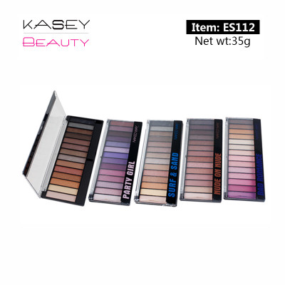 Cheap Wholesale Private Label Cosmetics 14 colors eyeshadow Palette ES112