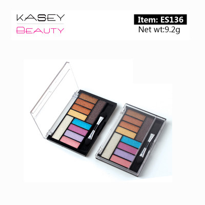 Cruelty free 10 colors eyeshadow palette Illuminating private label ES136