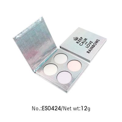 Private label rainbow eyeshadow palette 4 colors ES0424