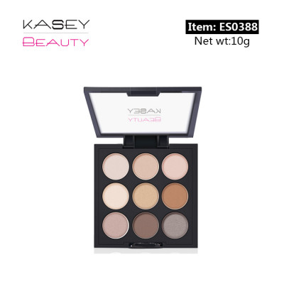 Private label cosmetics 9 colours eyeshadow Palette