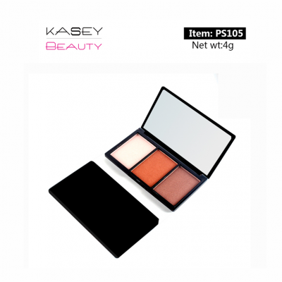 3 colors eyeshadow palette top cosmetic manufacturers in china