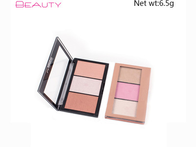 private label cosmetics wholesale eyeshadow palette 3 colors PS0201