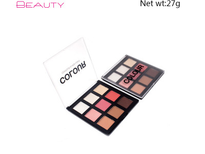 private label cosmetics china eyeshadow palette 9 colors PS0238
