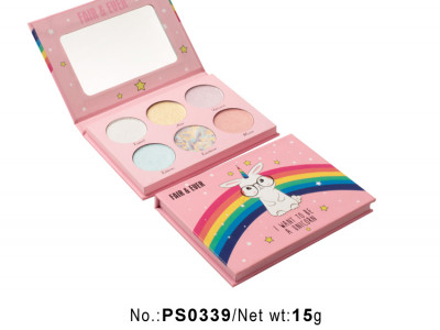 Private label cosmetics wholesale 6 colors makeup palette PS0339
