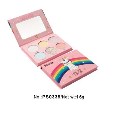 Private label cosmetics wholesale 6 colors makeup palette PS0339