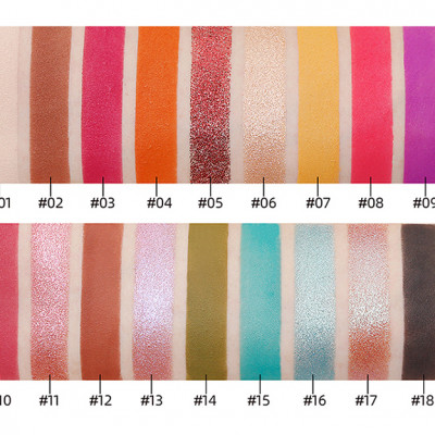 Private label 18 colours eyeshadow palette