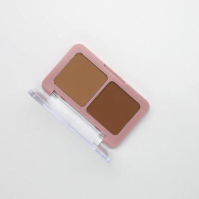 Private label cosmetics 2 color bronzer palette