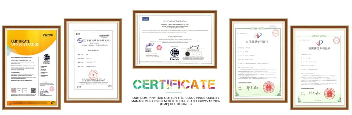 China private label makeup wholesale cosmetics manufacturer certificate