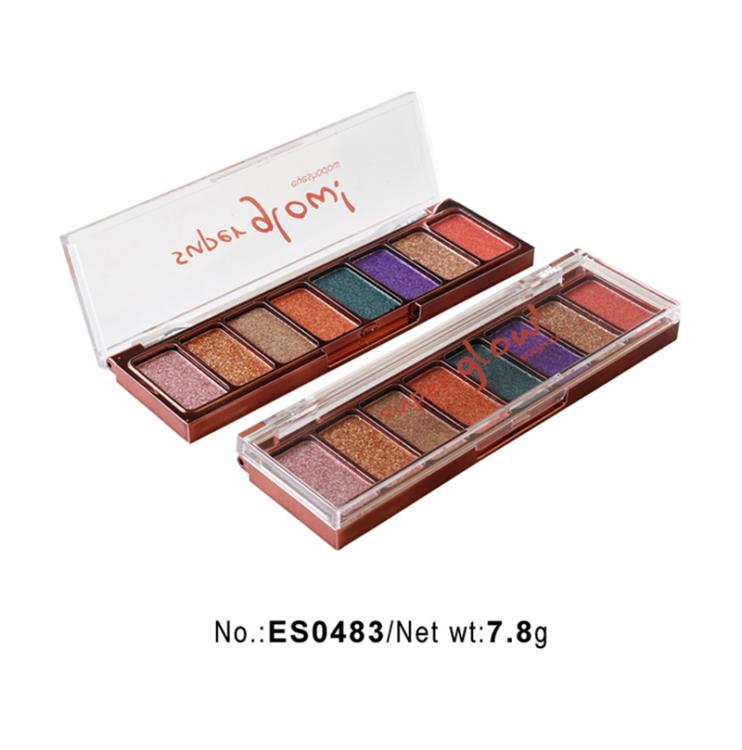 Best High pigment 8 shades eyeshadow palette private label ES0483
