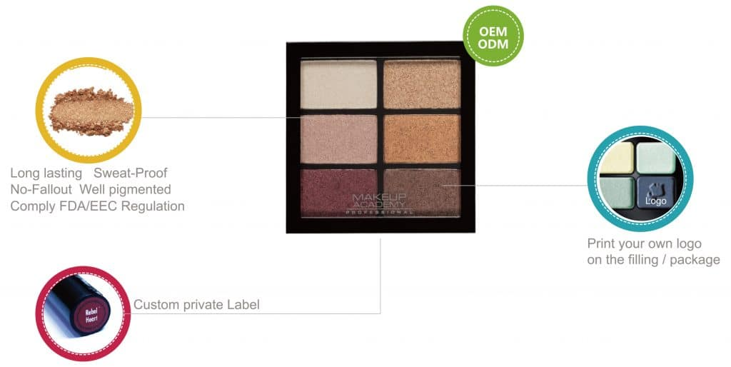 Private label cosmetics eyeshadow palette China makeup manufacturers (2)