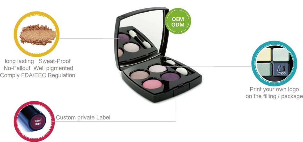 Luxury Private Label Products‎ 5 colors shimmer eyeshadow palette ES115