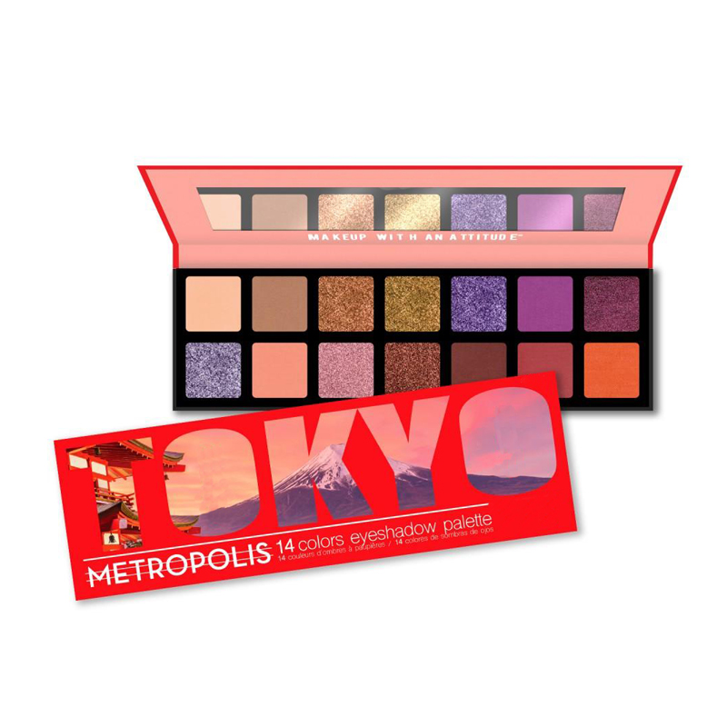 14 colors eyeshadow palette ES0528 makeup manufacturers