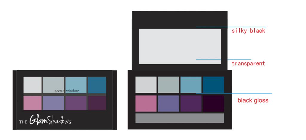 Custom makeup 8 colors Matte Eyeshadow palette Cruelty free ES121