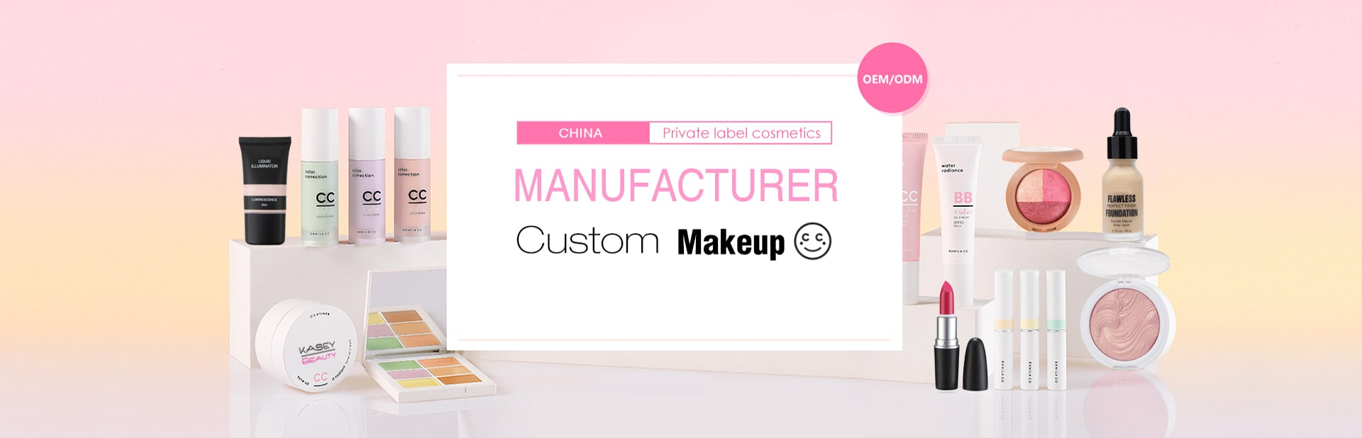China private label cosmetics manufacturer & makeup factory