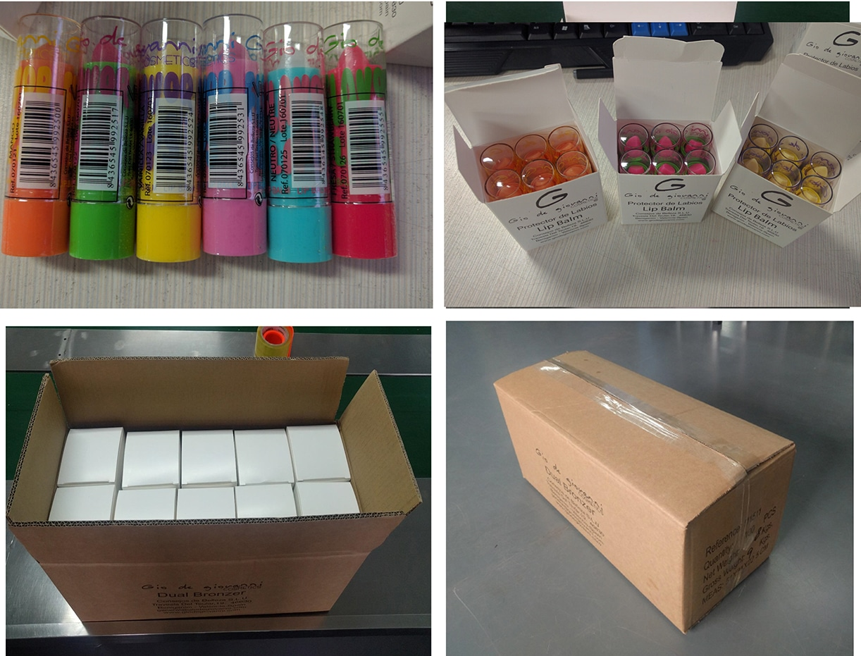 Private label cosmetics packing