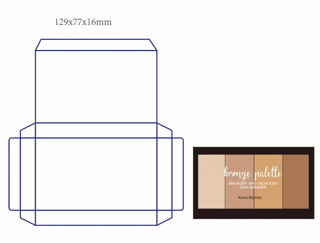 Color box print area packing - Private label cosmetics