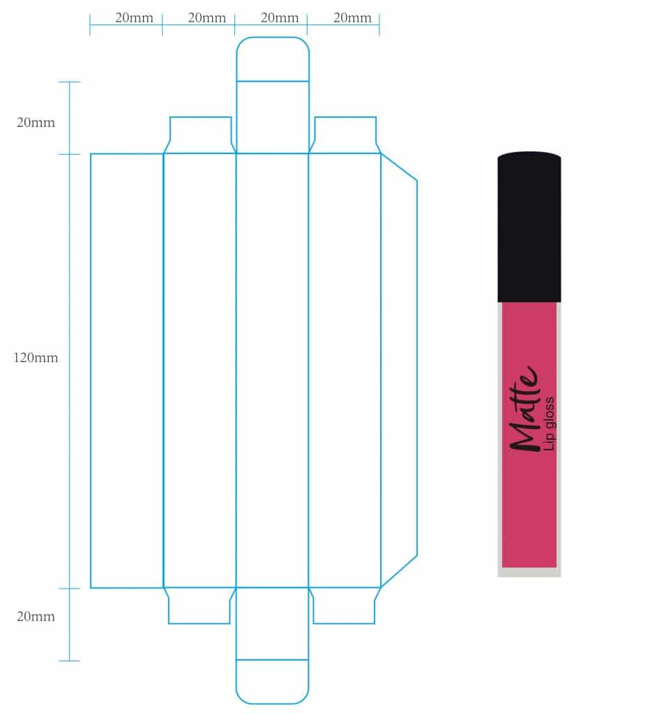 Color box print area packing-Private label lipgloss cosmetics