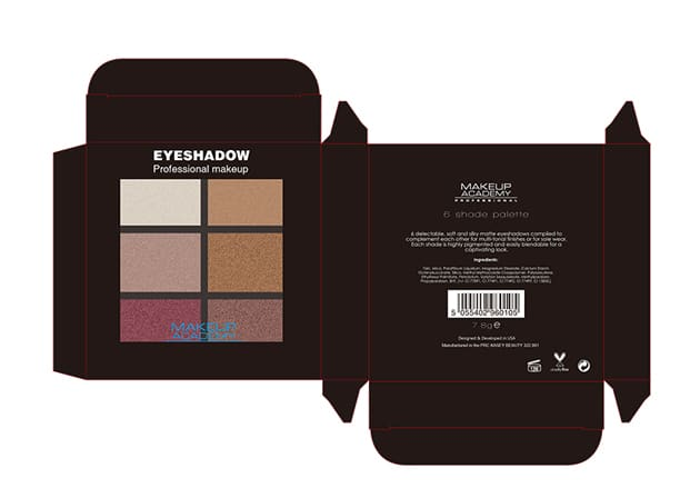 Private label cosmetics eyeshadow service