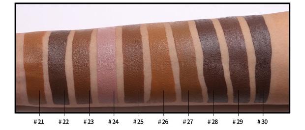 private label foundation color sheet
