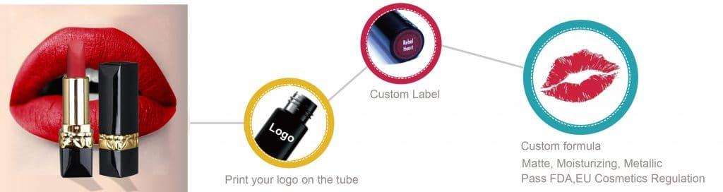 Private label cosmetics lipstick service