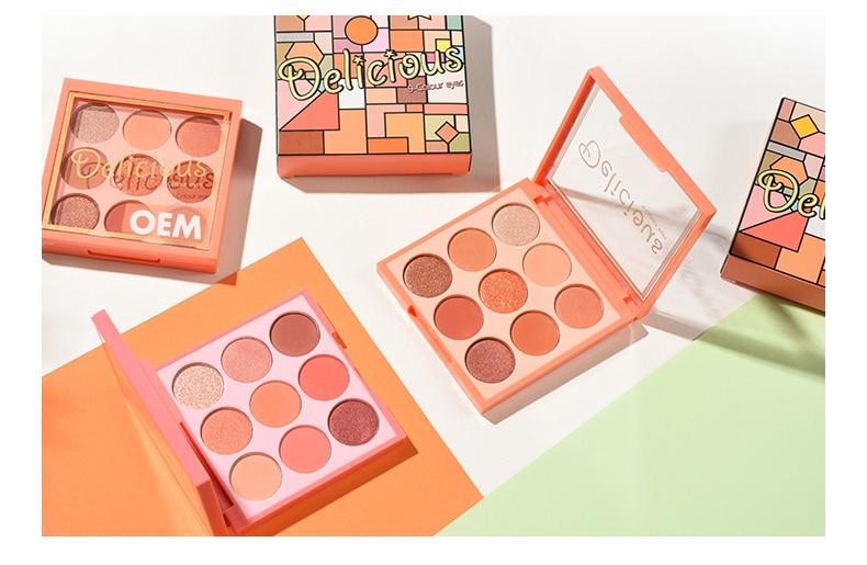 Custom 9 colors eyeshadow palette ES0341