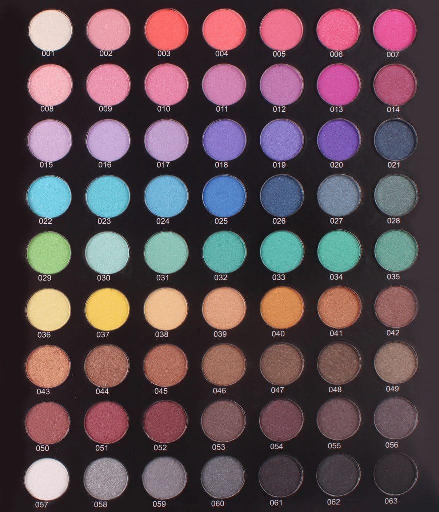 Eyeshadow Shimmer-chart --HEA 001-063