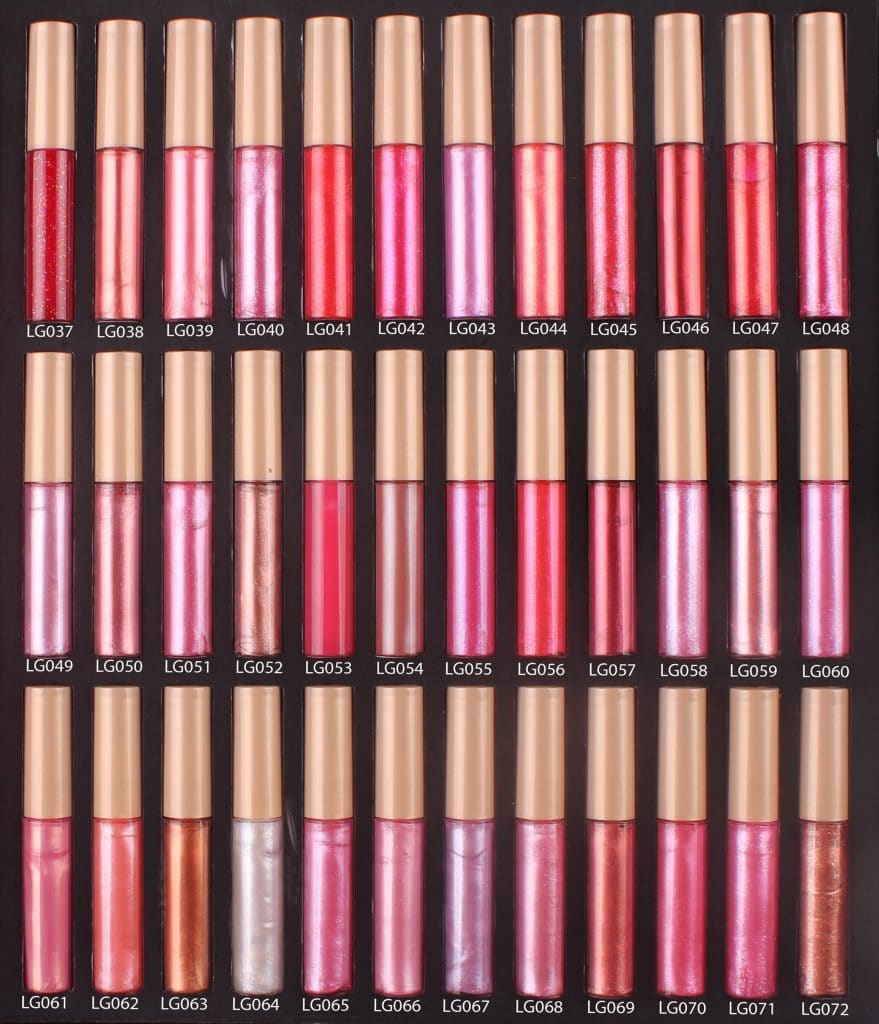 Lip Gloss color sheet - 1