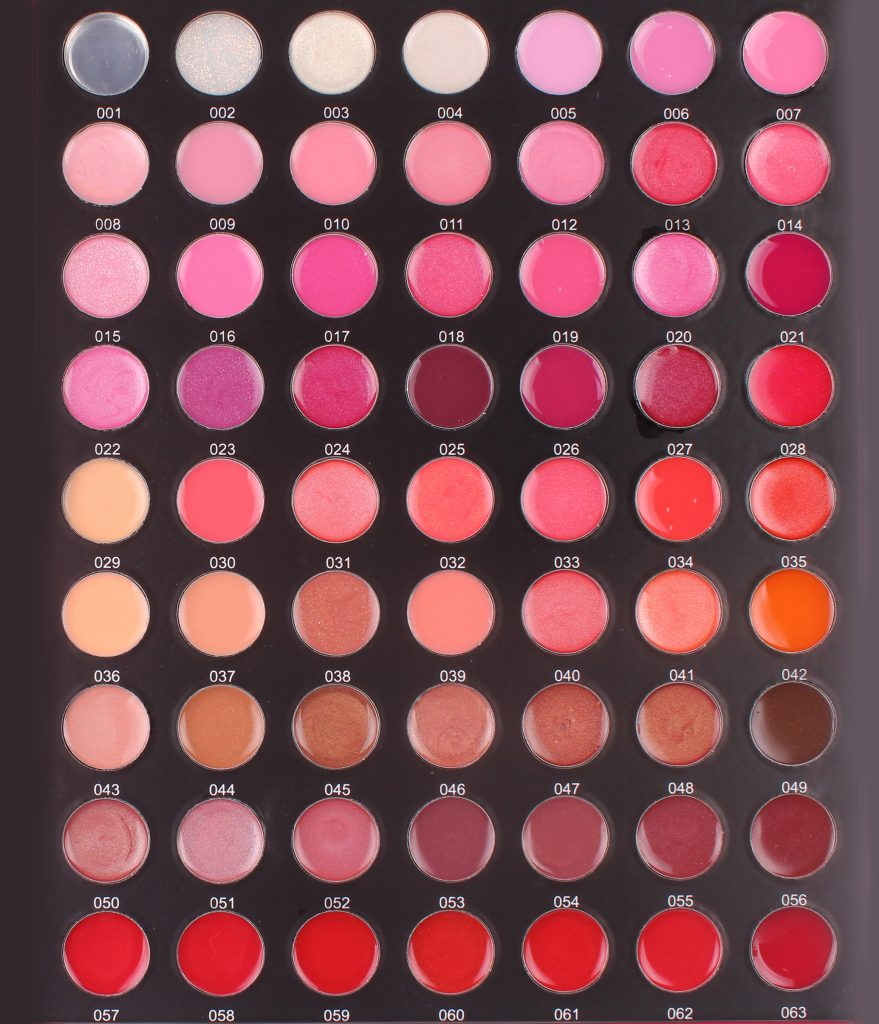 Lipgloss Color sheet