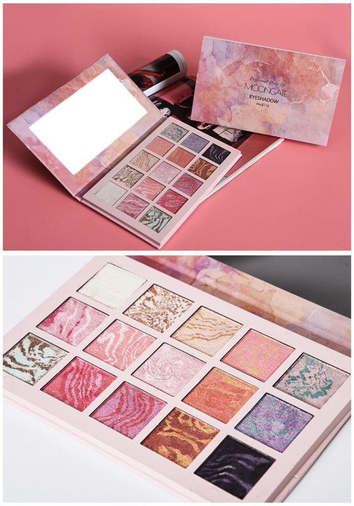 Private label cosmetics 15 colors eyeshadow palette