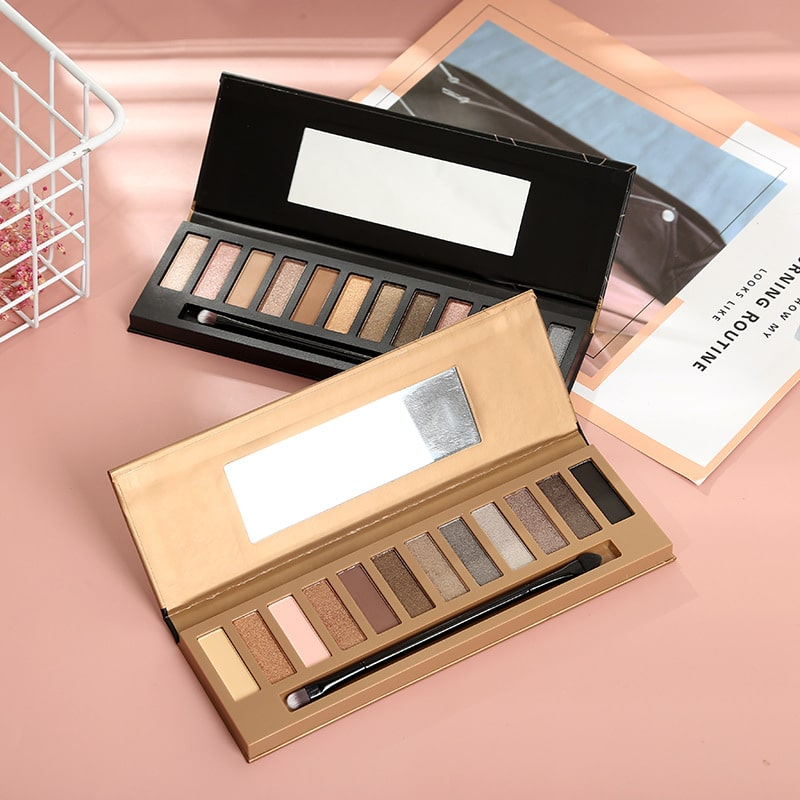12 colors nude eyeshadow palette private label