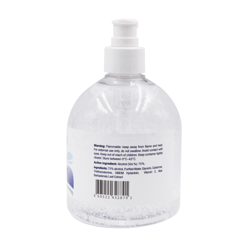 Hand sanitizer gel In stock wash free 75% alcohol 500ml - HS006