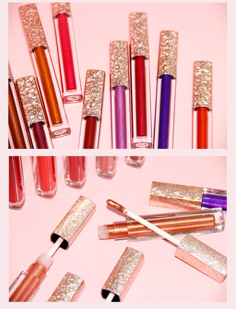 Metallic Lip Gloss private label with small MOQ