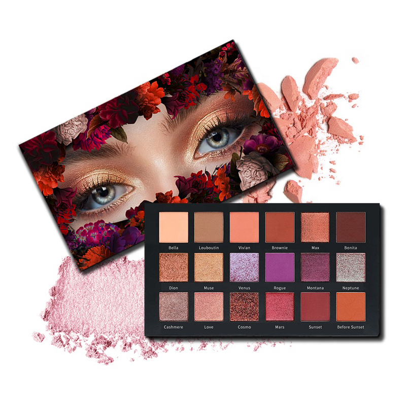 Private label eyeshadow high pigment 18 colors desert dusk with no minimum