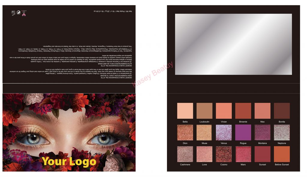 In stock-18 colors high pigment eyeshadow palette Private Label - ES0612