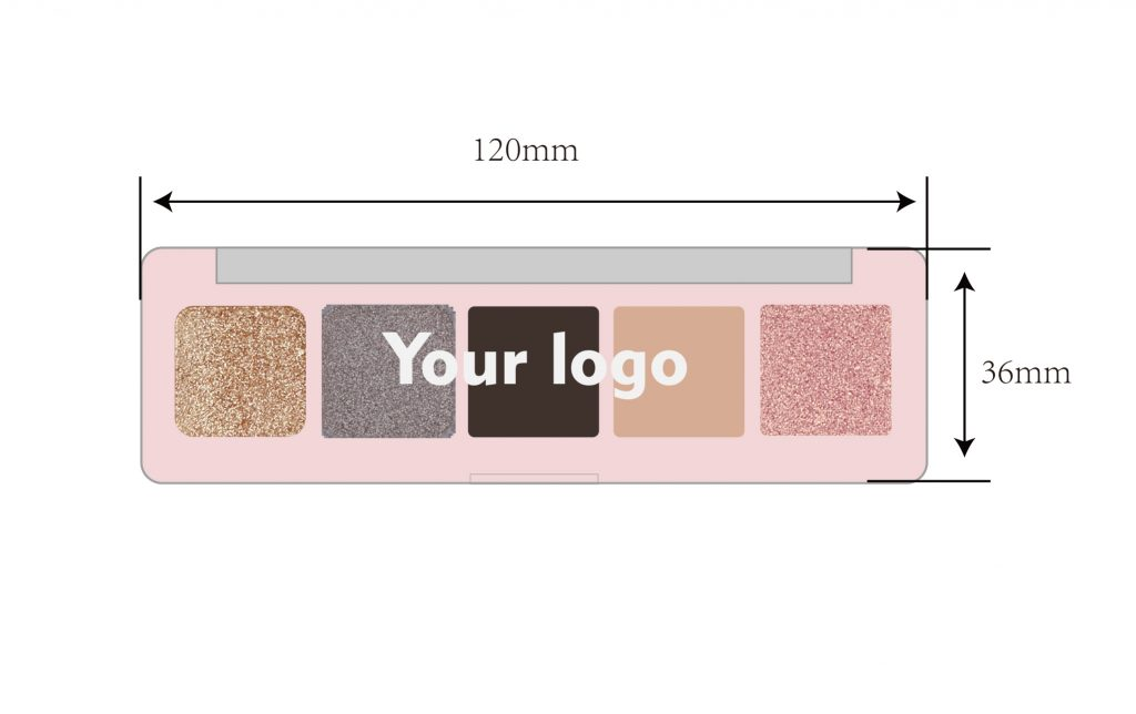 Private label eyeshadow palette high pigment 5 colors wholesale