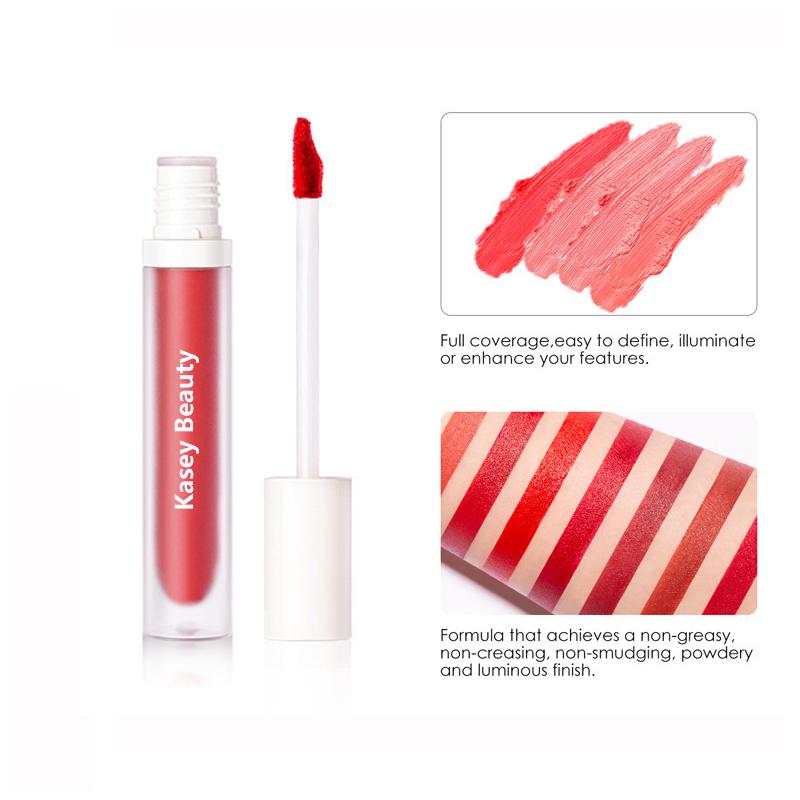 Velvet matte texture liquid lipstick Private label