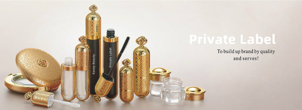Private label shiny gold finish packaging
